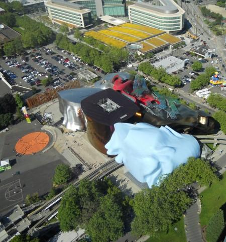Vista aérea do Jimi Hendrix Museum
