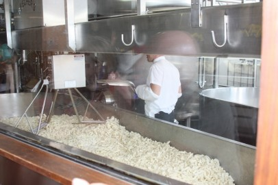 Fabricação de queijo no Beecher's